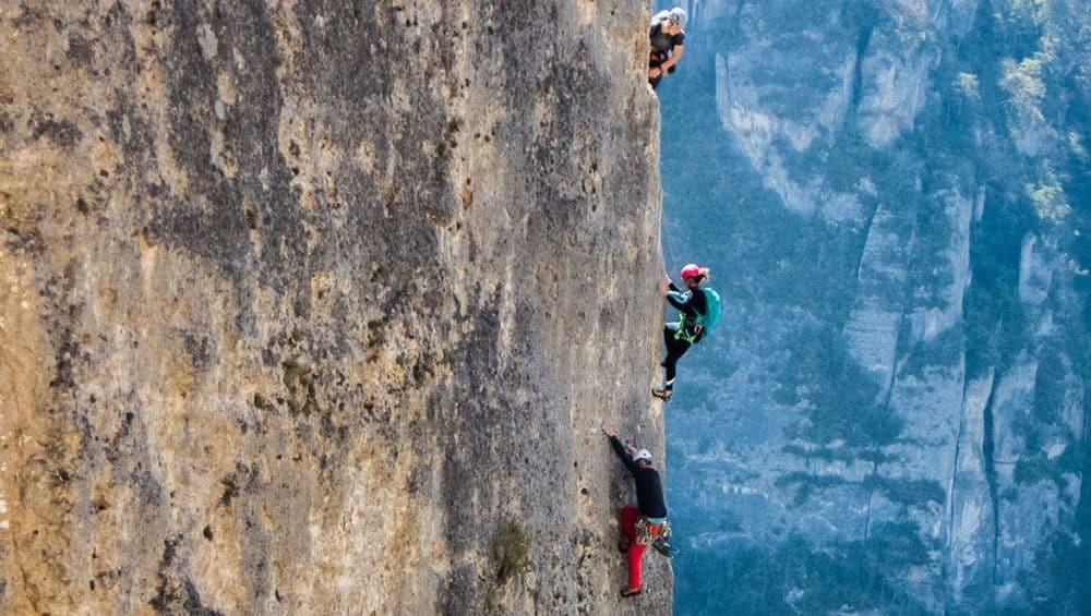Escalade Gorges de la Jonte Grande voie aveyron cevennes millau occitanie sud ouest midi pyrénes
