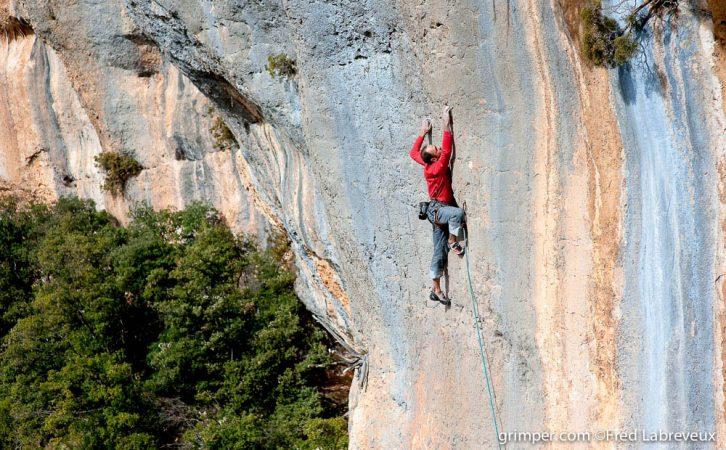 Escalade Gorges de la Jonte Grande voie cevennes aveyron millau occitanie sud ouest