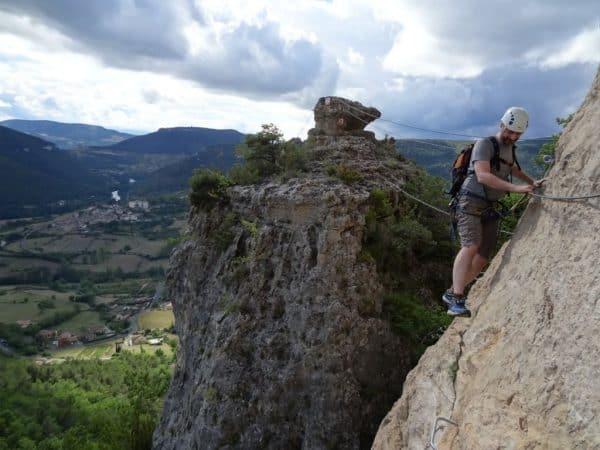 Via ferrata Gorges du Tarn Liaucous cevennes aveyron millau occitanie midi pyrénées