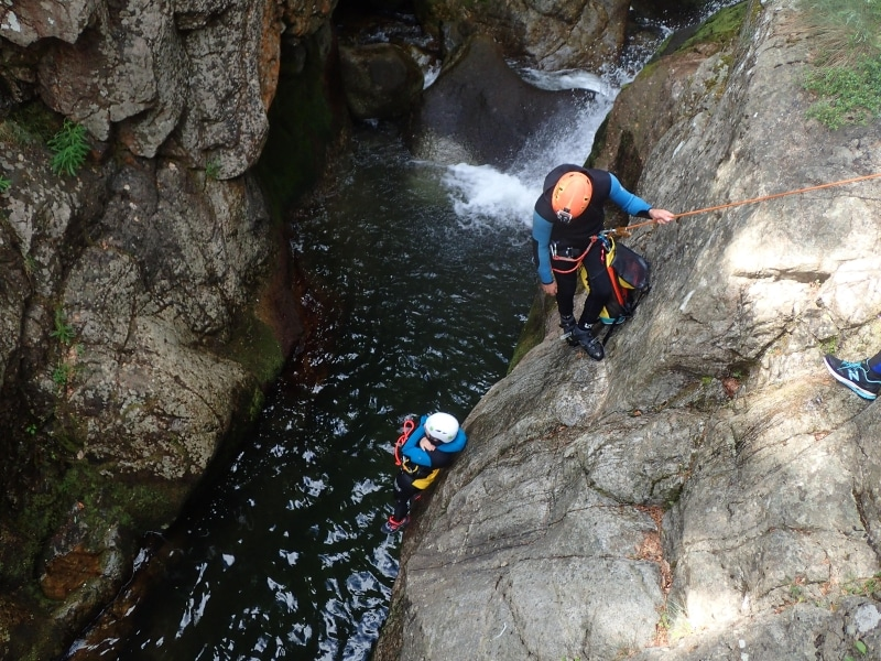 canyoning tapoul canyoning les rousses canyoning cévennes descente Gorges du tapoul descente canyoning tapoul