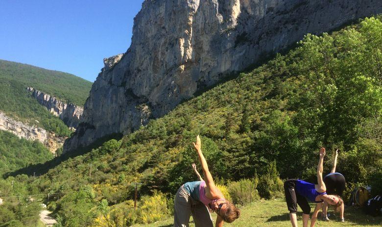 Stage yoga escalade Cévennes